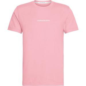 カルバンクライン Calvin Klein Jeans メンズ Tシャツ ロゴTシャツ トップス Institutional Chest Logo T Shirt Apricot|ef-3