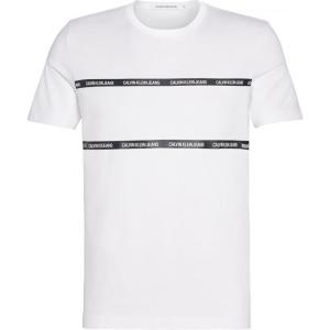 カルバンクライン Calvin Klein Jeans メンズ Tシャツ トップス Institutional Tape T Shirt Bright White|ef-3