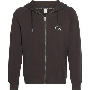 カルバンクライン Calvin Klein メンズ パーカー トップス logo zip hoodie Black ef-3