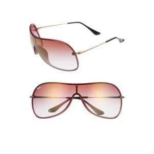 レイバン RAY-BAN レディース メガネ・サングラス 141mm Mirrored Shield Sunglasses Bordeaux Gradient|ef-3
