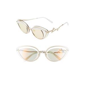 ケンゾー KENZO レディース メガネ・サングラス 43mm Cat Eye Sunglasses Gold/ Rose|ef-3