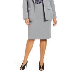エロクイ ELOQUII レディース ひざ丈スカート スカート Stretch Pencil Skirt Heather Grey|ef-3