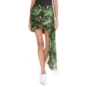 キャロライン コンスタス CAROLINE CONSTAS レディース ミニスカート スカート Kira Leaf Print Silk Miniskirt Black Multi|ef-3