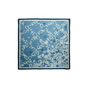 ジミー チュウ JIMMY CHOO レディース マフラー・スカーフ・ストール Floral Logo Silk Scarf Stone Blue|ef-3