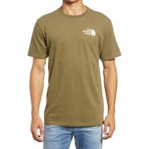 ザ ノースフェイス THE NORTH FACE メンズ Tシャツ トップス Simple Dome Graphic Tee Burnt Olive Green|ef-3