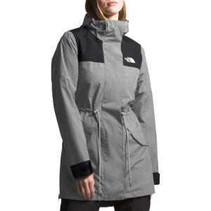 ザ ノースフェイス THE NORTH FACE レディース レインコート Metroview Trench Water Repellent & Windproof Rain Coat Medium Grey Heather/Black|ef-3
