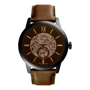 フォッシル FOSSIL レディース 腕時計 Townsman Automatic Leather Strap Watch, 48mm|ef-3