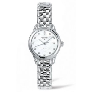 ロンジン LONGINES レディース 腕時計 Flagship Automatic Diamond Bracelet Watch, 26mm|ef-3