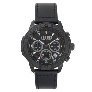 ヴェルサーチ VERSUS VERSACE レディース 腕時計 Admiralty Chronograph Leather Strap Watch, 44mm|ef-3
