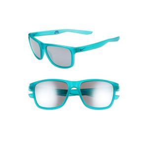 ナイキ NIKE レディース メガネ・サングラス Flip 53mm Mirrored Sunglasses Matte Clear Jade/ Grey|ef-3