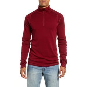 スマートウール SMARTWOOL メンズ トップス Merino 250 Base Layer Quarter Zip Pullover Tibetan Red Heather ef-3