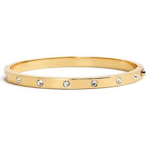 ケイト スペード KATE SPADE NEW YORK レディース ブレスレット バングル ジュエリー・アクセサリー crystal hinge bangle Gold|ef-3