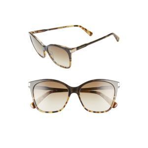 ロンシャン LONGCHAMP レディース メガネ・サングラス Le Pliage 54mm Butterfly Sunglasses Marble Green|ef-3
