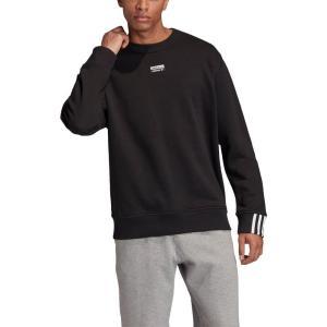 アディダス ADIDAS ORIGINALS メンズ スウェット・トレーナー トップス Crewneck Sweatshirt Black ef-3