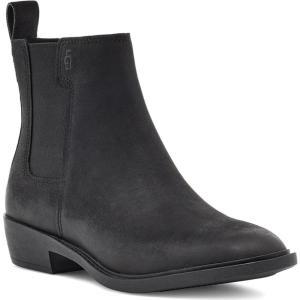 アグ UGG レディース ブーツ チェルシーブーツ シューズ・靴 Emmeth Waterproof Chelsea Boot Black Leather|ef-3