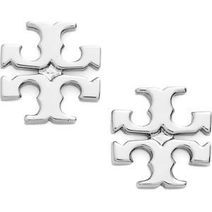 トリー バーチ TORY BURCH レディース イヤリング・ピアス ジュエリー・アクセサリー Logo Stud Earrings Silver|ef-3