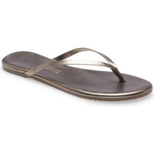 ティキーズ TKEES レディース ビーチサンダル シューズ・靴 Metallic Flip Flop Frosty Grey|ef-3