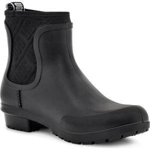 アグ UGG レディース レインシューズ・長靴 チェルシーブーツ シューズ・靴 Chevonne Chelsea Waterproof Rain Boot Black Rubber|ef-3