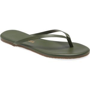 ティキーズ TKEES レディース ビーチサンダル シューズ・靴 'Liners' Flip Flop Forest|ef-3