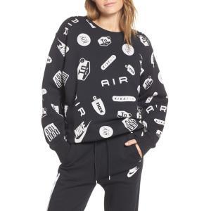 ナイキ NIKE レディース スウェット・トレーナー トップス Sportswear Air Max Crewneck Sweatshirt Black/ White|ef-3
