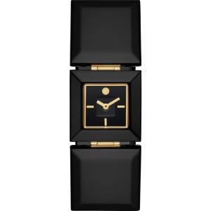 トリー バーチ TORY BURCH レディース 腕時計 Robertson Bracelet Square Watch25mm Black|ef-3