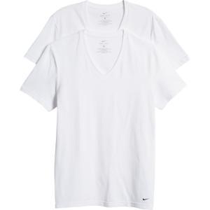 ナイキ NIKE メンズ Tシャツ 2点セット ドライフィット Vネック トップス 2-Pack Dri-Fit V-Neck T-Shirts White|ef-3