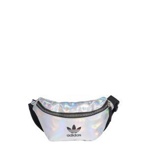 アディダス ADIDAS ORIGINALS レディース ボディバッグ・ウエストポーチ バッグ Logo Metallic Belt Bag Silver Met./Iridescent ef-3