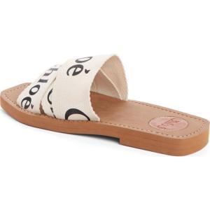 クロエ CHLOE レディース サンダル・ミュール シューズ・靴 Logo Slide Sandal White|ef-3