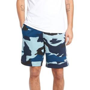 アディダス ADIDAS ORIGINALS メンズ ショートパンツ ボトムス・パンツ Camo French Terry Shorts Multicolor/ Collegiate Navy|ef-3