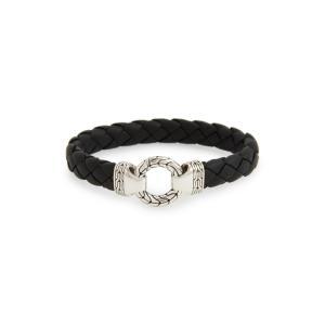 ジョン ハーディー JOHN HARDY メンズ ブレスレット ジュエリー・アクセサリー Classic Chain Silver Bracelet Black|ef-3