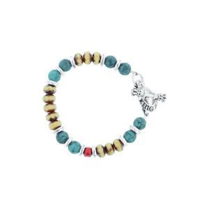 キングベイビー KING BABY メンズ ブレスレット ジュエリー・アクセサリー American Voices Ceramic & Glass Bead Bracelet Turquoise|ef-3