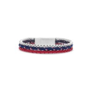 ベンシャーマン BEN SHERMAN メンズ ブレスレット ジュエリー・アクセサリー Leather & Cord Bracelet Blue/ Red/ White|ef-3