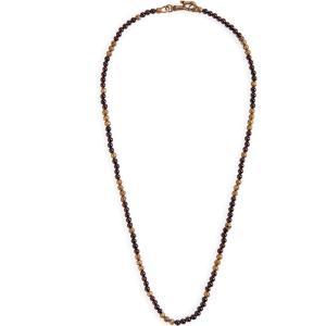 ジョン バルベイトス JOHN VARVATOS STAR USA メンズ ネックレス ジュエリー・アクセサリー Distressed Bead Necklace Red|ef-3