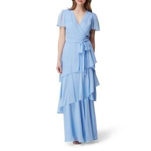 タハリ TAHARI レディース パーティードレス ワンピース・ドレス flutter sleeve...