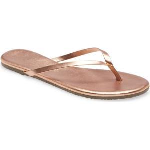 ティキーズ TKEES レディース ビーチサンダル シューズ・靴 Metallic Flip Flop Beach Pearl|ef-3