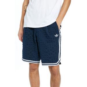 アディダス ADIDAS ORIGINALS メンズ ショートパンツ ボトムス・パンツ Check Seersucker Shorts Collegiate Navy/ White|ef-3