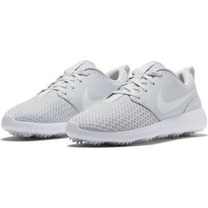 ナイキ NIKE レディース ゴルフ シューズ・靴 Roshe G Golf Shoe Platinum/Metallic White|ef-3