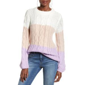 ヴェロモーダ VERO MODA レディース ニット・セーター トップス Becca Colorblock Chunky Cable Sweater ef-3
