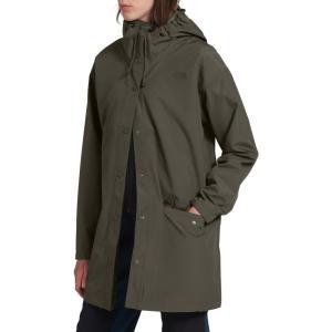 ザ ノースフェイス THE NORTH FACE レディース レインコート フード アウター Woodmont Waterproof Hooded Rain Jacket New Taupe Green|ef-3
