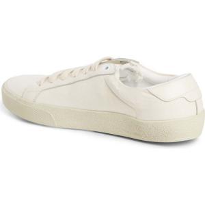 イヴ サンローラン SAINT LAURENT レディース スニーカー シューズ・靴 Court Classic Embroidered Sneaker Cream/ Cream|ef-3
