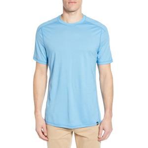 スマートウール SMARTWOOL メンズ Tシャツ トップス Merino Blend Tech T-Shirt Geyser Blue|ef-3