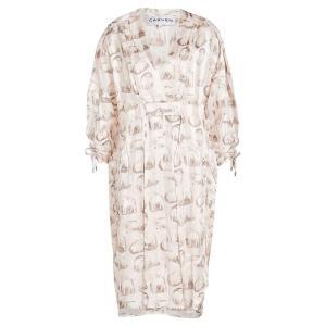 カルヴェン レディース ワンピース ワンピース・ドレス Printed Silk Tunic Dress pink|ef-3