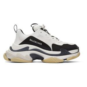 バレンシアガ Balenciaga メンズ スニーカー シューズ・靴 Black & White T...