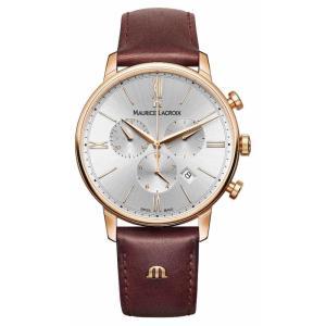 モーリス ラクロア メンズ 腕時計 Maurice Lacroix Eliros 40mm Watch Brown Leather Rose Gold Plated|ef-3