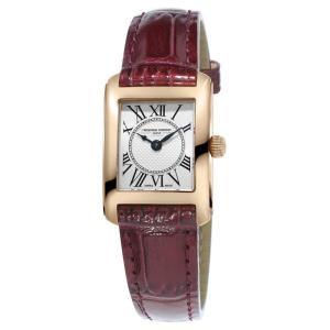 フレデリック コンスタント レディース 腕時計 アクセサリー Frederique Constant Carree Brown Leather Strap Silver Dial ef-3