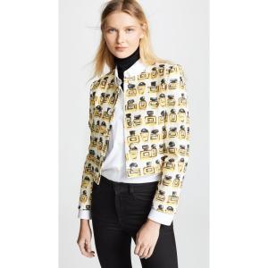 モスキーノ Boutique Moschino レディース ジャケット アウター Perfume Print Jacket White Multi|ef-3