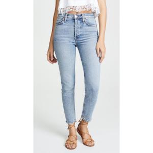 リダン RE/DONE レディース ジーンズ・デニム ボトムス・パンツ High Rise Ankle Crop Jeans Mid 's|ef-3