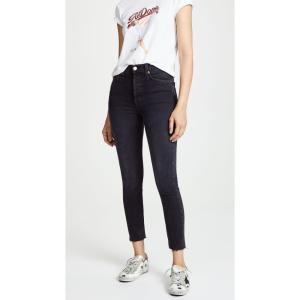 リダン RE/DONE レディース ジーンズ・デニム ボトムス・パンツ High Rise Ankle Crop Jeans Faded Black|ef-3