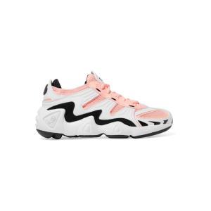 アディダス adidas Originals レディース スニーカー シューズ・靴 FYW S-97 leather, suede and mesh sneakers Crystal white/ Core black/ Clear orange ef-3