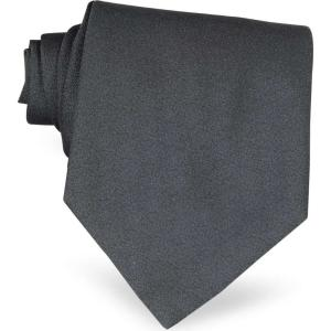フォルツィエリ Forzieri メンズ ネクタイ Ponte Vecchio Old Bridge Dark Gray Woven Silk Tie Dark Gray|ef-3